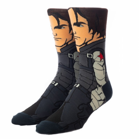 Marvel The Winter Soldier 360 Character Collection Crew Socks