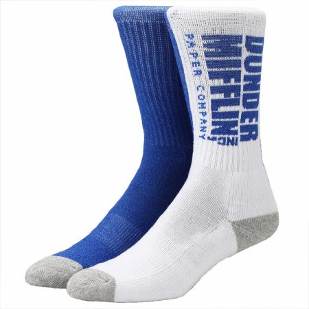 The Office Dunder Mifflin Split Crew Socks