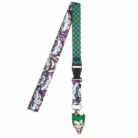 The Joker Face Lanyard with Charm and Sticker