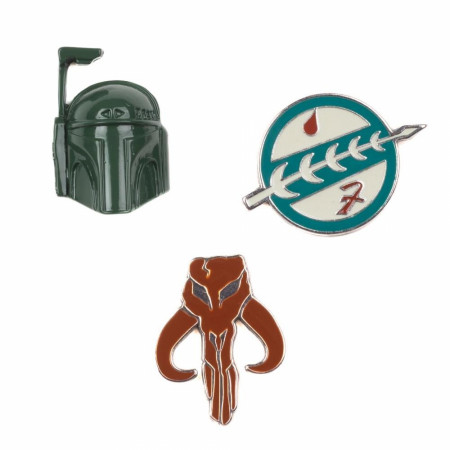 Star Wars Boba Fett Collectable Lapel Pin 3-Piece Set