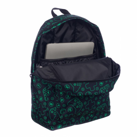 Xbox Controllers All Over Print Backpack