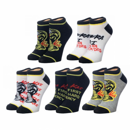 Cobra Kai Symbol 5 Pair Ankle Socks