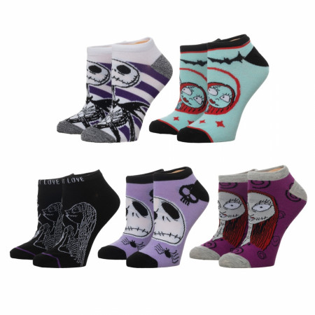 Nightmare Before Christmas 5-Pair Pack Women's Ankle Socks