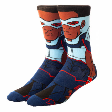 Marvel The Falcon 360 Character Collection Crew Socks