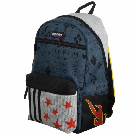 Birds of Prey Harley Quinn Faux Denim Ripstock Backpack