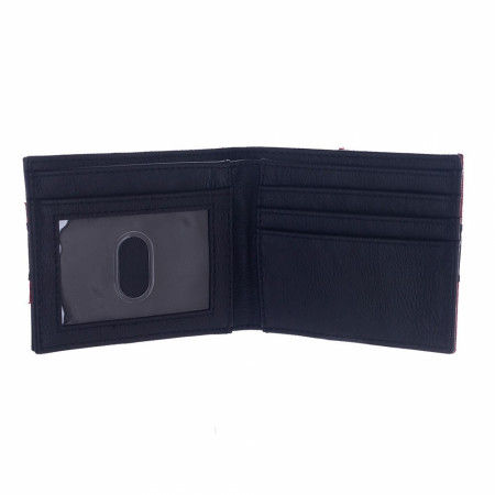 Deadpool Symbol Synthetic Leather Bifold Wallet