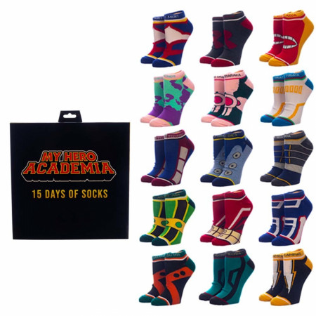 My Hero Academia 15 Days Ankle Sock Set