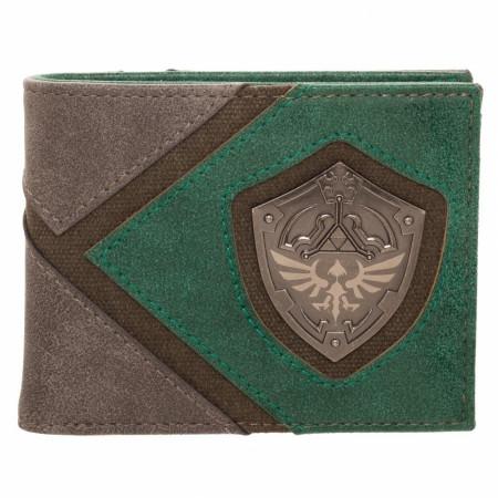 Legend Of Zelda Silver Metal Badge Bi-Fold Wallet