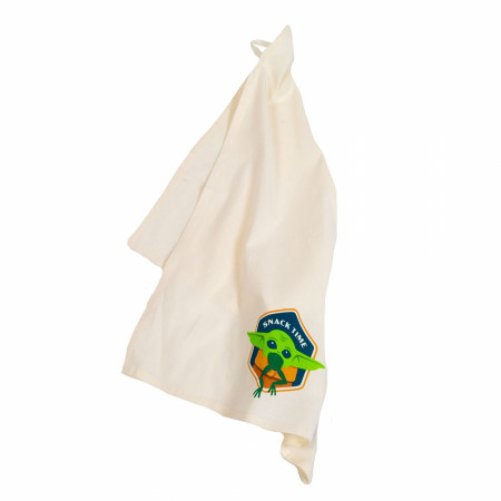 Star Wars The Mandalorian The Child Grogu Snack Time Tea Towel