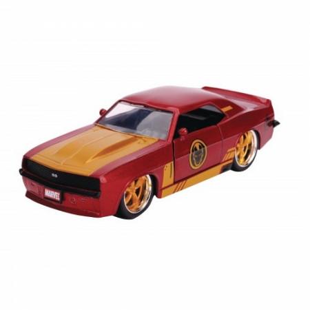"""Iron Man 1969 Chevy Camaro Diecast Metal 5"""" Movie Car by Jada Toys"""