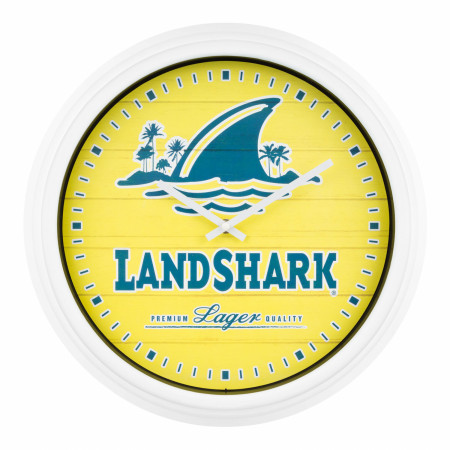 LandShark Logo Yellow Wall Clock