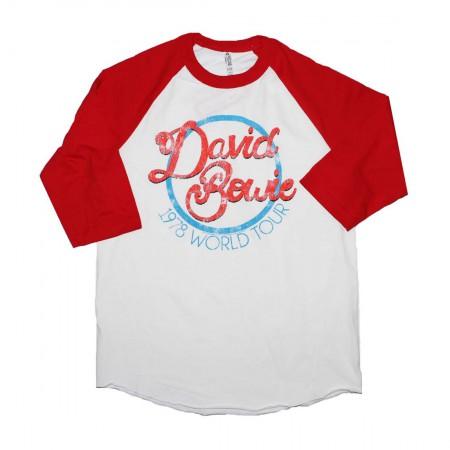 David Bowie 1978 World Tour Raglan Sleeve T-Shirt