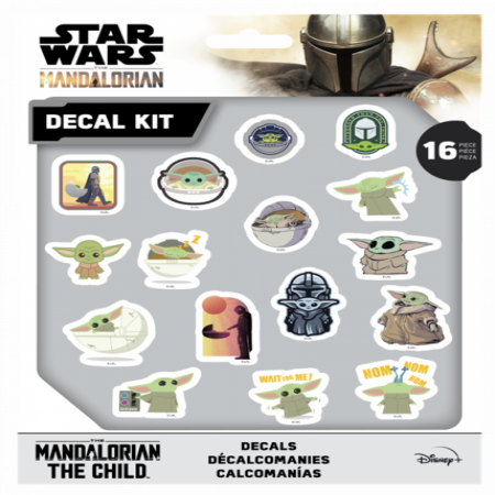 Star Wars The Mandalorian 16 Piece Decal Kit