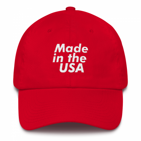 Made in the USA Red Dad Hat