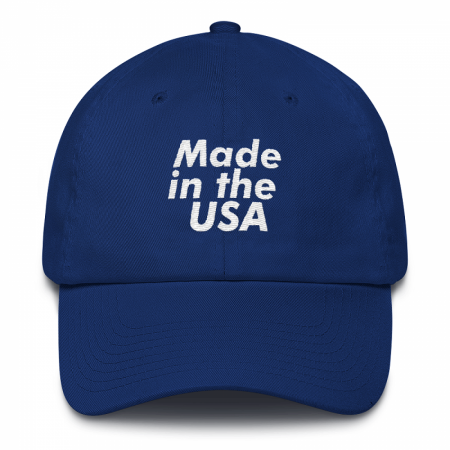 Made in the USA Blue Dad Hat