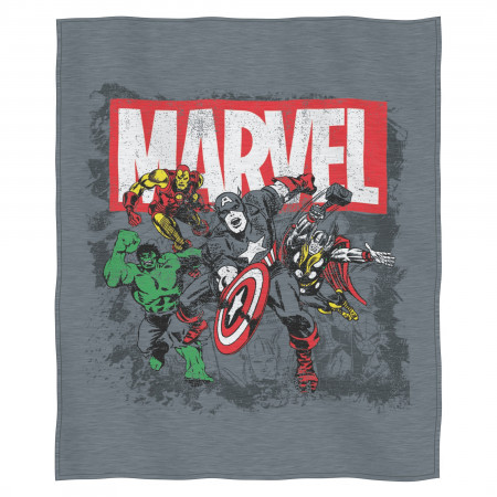 Marvel Avengers Grey Sweatshirt Throw Blanket