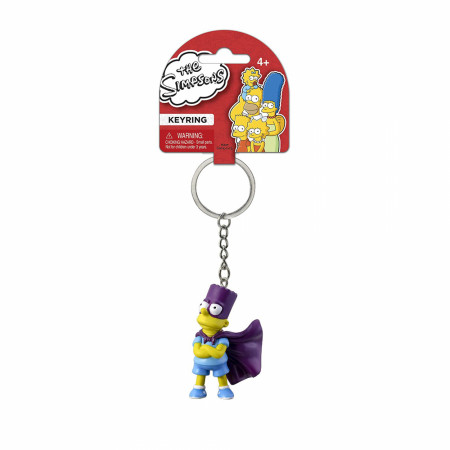 The Simpsons Bart-Man Character 3D PVC Keychain