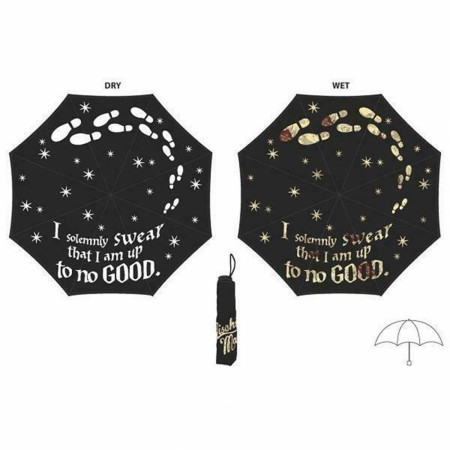 Harry Potter Marauder's Map Color-Changing Umbrella