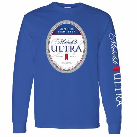 Michelob Ultra Logo Sleeve Print Long Sleeve Shirt