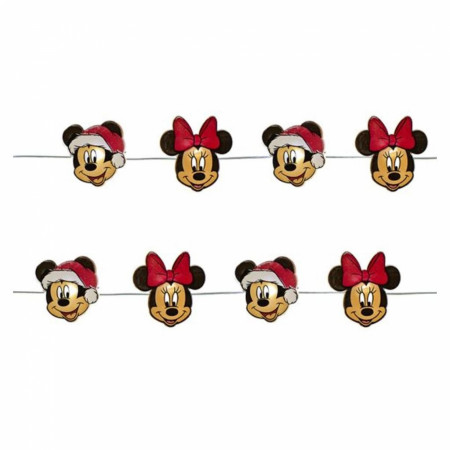 Mickey And Minnie Christmas Mini Fairy Battery Operated Light Set