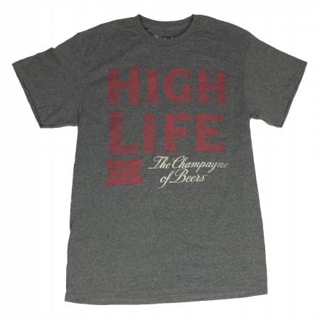 Miller High Life The Champion of Beers Text T-Shirt