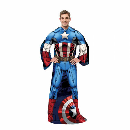 Captain America First Avenger Adult Sleeved Costume Blanket