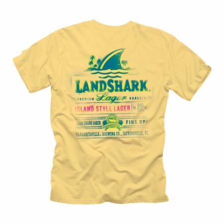 Landshark Lager Spray Label Front and Back Print T-Shirt