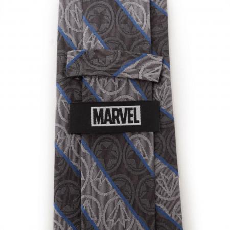 Winter Soldier and Falcon Logos Gray Men's Tie