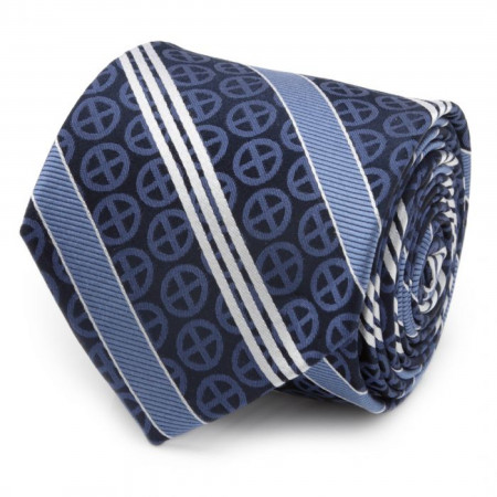 X-Men Symbol Navy Silk Men's Tie