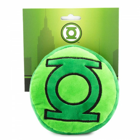 DC Comics Green Lantern Shaped Plush Squeaky Dog Toy