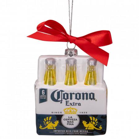Corona Extra Six Pack Glass Christmas Ornaments