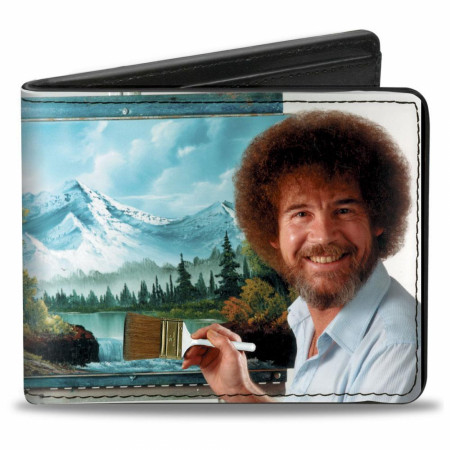 Bob Ross Painting Vegan Leather Wallet