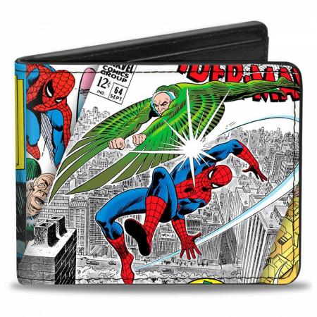 Spider-Man & Vulture Battle Marvel Comics Classic Bi-Fold Wallet