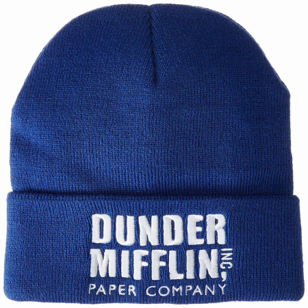 The Office Dunder Mifflin Logo Beanie