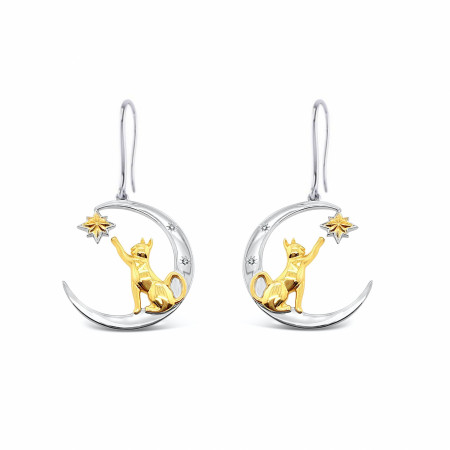 Captain Marvel Goose Catch The Moon Earrings