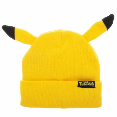 Pikachu Yellow Bigface Beanie