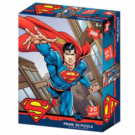 DC Comics Superman Flying 3D Image 300pc Puzzle