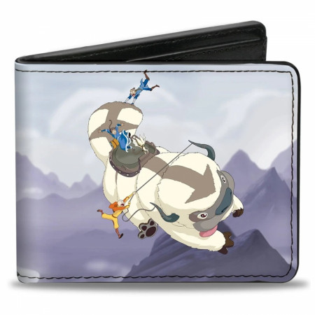 Avatar: The Last Airbender Appa Carrying Over Mountains Bi-Fold Wallet
