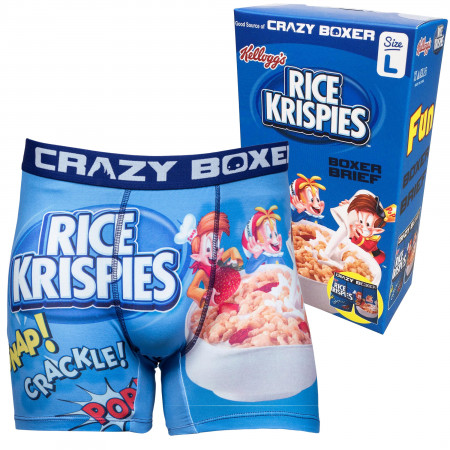 Rice Krispies Boxer Briefs in Cereal Box