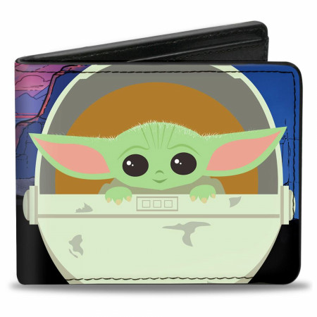 "The Mandalorian ""The Child"" Chibi Pod Vegan Leather Wallet"