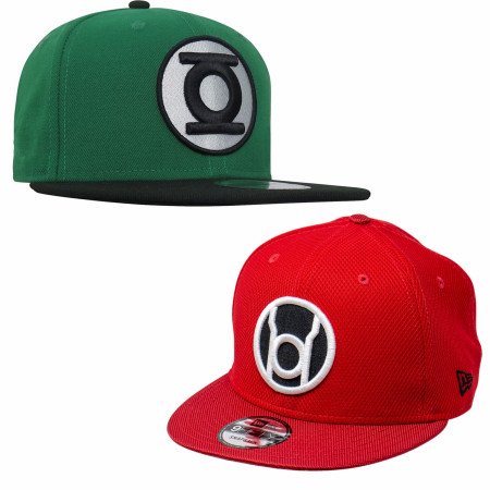 Green Lantern vs Red Lantern 9Fifty Hat Combo