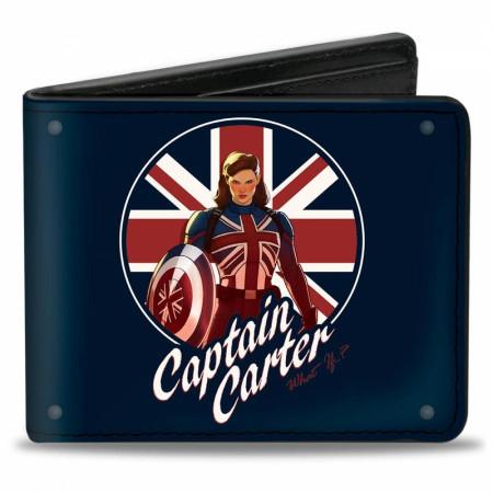 Marvel Studios What If? Series Captain Carter Union Jack Shield Bi-Fold Wallet