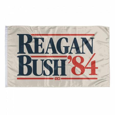 Reagan And Bush '84 Flag