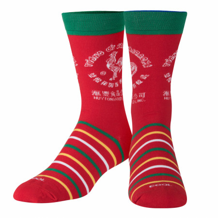 Sriracha Striped Crew Socks