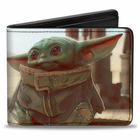 The Mandalorian The Child Scene Vegan Leather Wallet