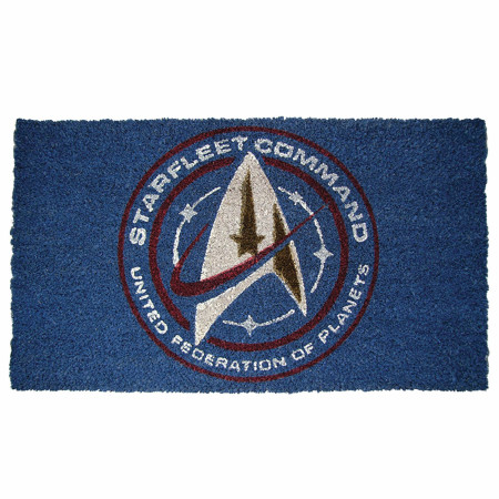 "Star Trek Discovery Starfleet 17""x 29"" Doormat with Non-skid Back"