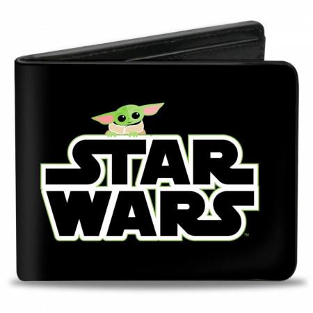 Star Wars The Mandalorian The Child Grogu Peeking Vegan Leather Wallet
