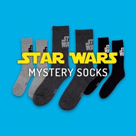 Star Wars Text Classic Mystery Crew Socks