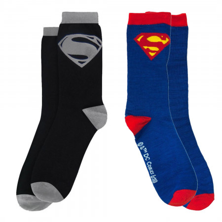 Superman Symbols Crew Socks 2-Pair Pack