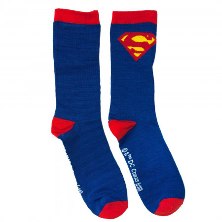 Superman Symbols Crew Socks 2-Pair Pack